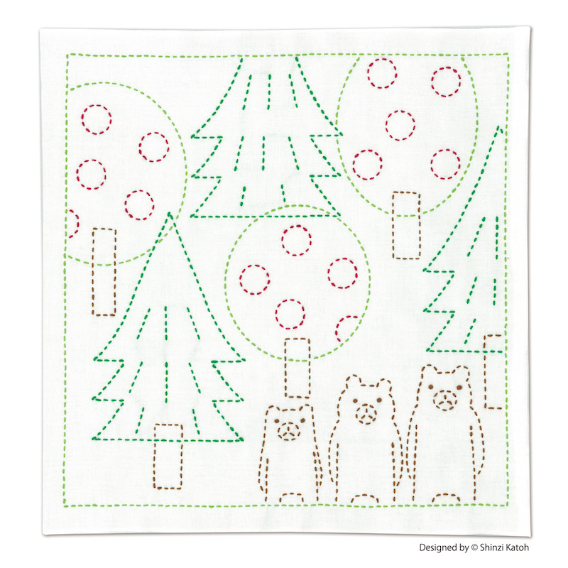 Shinzi Katoh Three Little Bears Sashiko Sampler Kit
