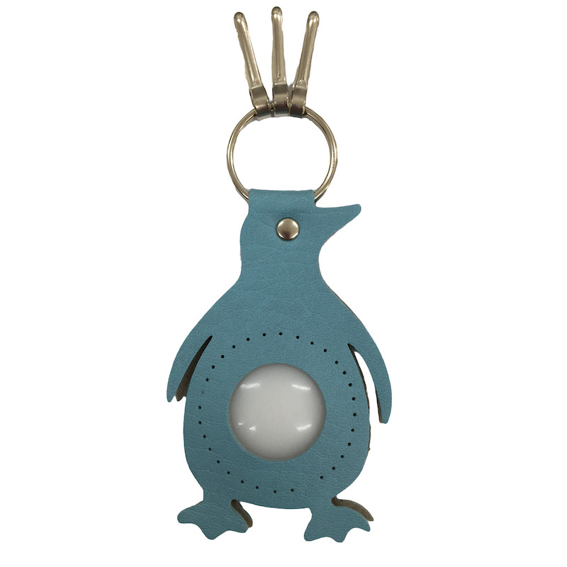 Penguin Keyring Light Blue