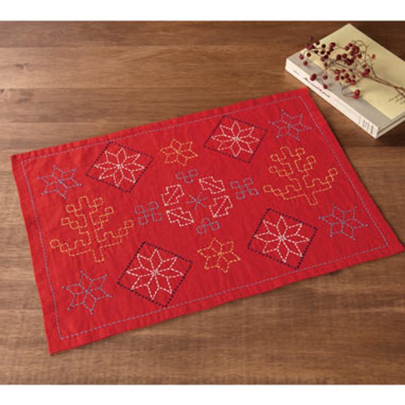 Sashiko Stars Placemat Kit