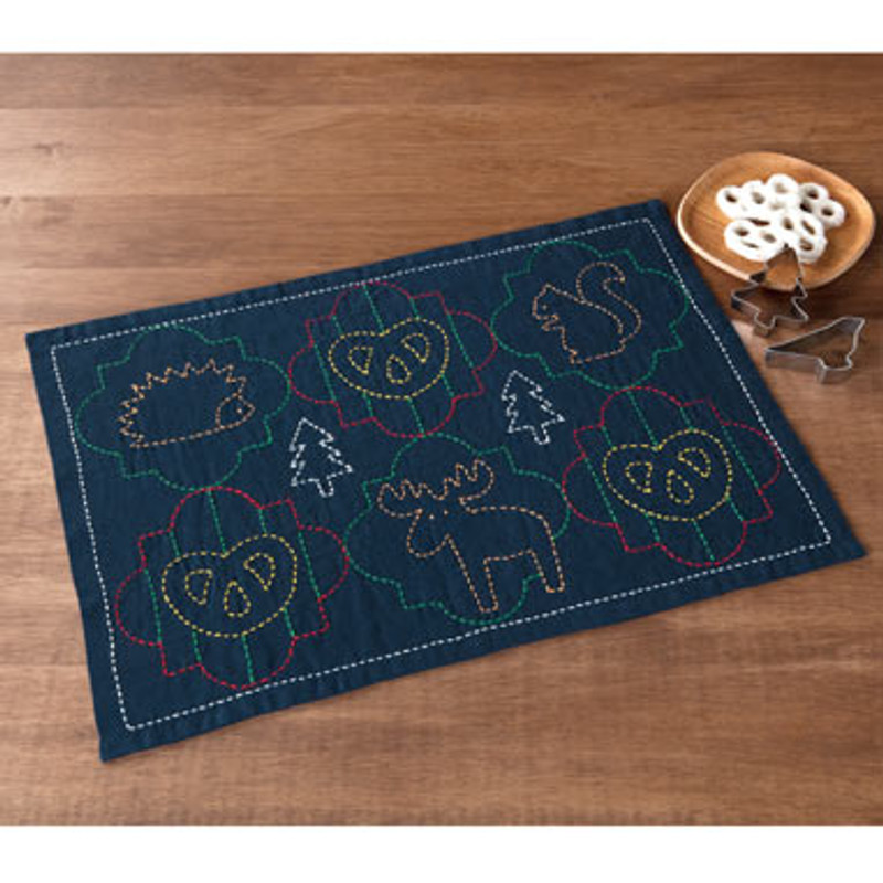 Sashiko Animals Placemat Kit
