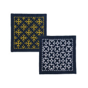 Sashiko Coaster Kit - Snow Crystal & Cross Connection