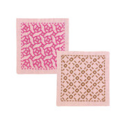 Sashiko Coaster Kit - Rose & Check