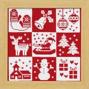 Festive Christmas Cross-stitch