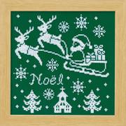 Reindeer Christmas Cross-stitch