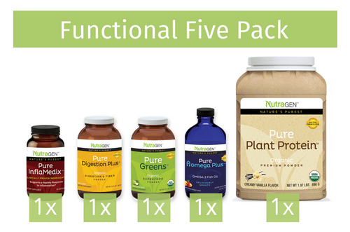 Functional Five Pack - One each of Nutragen's core offerings