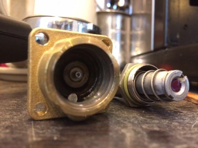 Rancilio Silvia cleaned solenoid valve