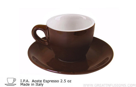 Dark Brown Espresso Cups