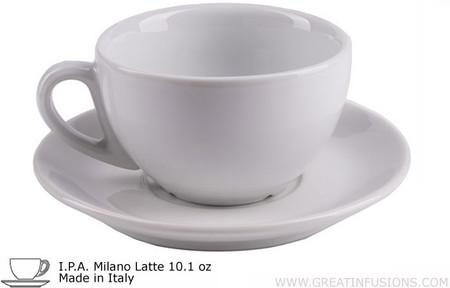 I.P.A. White Latte Cups