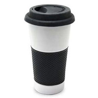 Ceramic Travel Mug w/ Silicon Lid & Grip (16 oz.)
