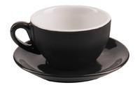 Black Milano Cappuccino Cup