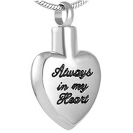 Always in my Heart Memorial Pendant