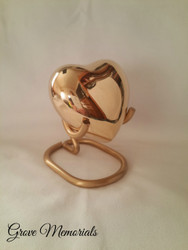 Brass Plain Heart Keepsake