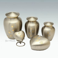 Pewter/Bronze Classic Paw Urn - up to 60kgs