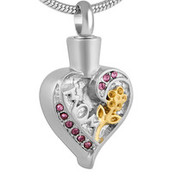 Mom the Rose in my Heart Memorial Pendant