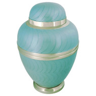 Sea Blue Cremation Urn