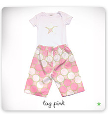 baby star Lounge Set - Tag Pink (LAST ONE LEFT - SIZE 12-18M)