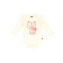 Milk & Masuki Long Sleeve Bodysuit - Hello Fox (LAST ONE LEFT - SIZE NEWBORN)