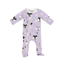 Milk & Masuki Long Sleeve Zip All-in-One - Fox Dreaming (LAST ONE LEFT SIZE 6-12M)