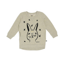 Milk & Masuki Jumper Dress - Rabbit Oracle (LAST ONE LEFT - SIZE 3 YEARS)