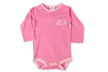 Little Flock of Horrors - Boss Baby Bodysuit - Chateau Pink (LAST ONE LEFT - SIZE 0-3M)