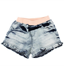 Curious Wonderland - Frill Denim Shorts - Dark (LAST ONE LEFT - SIZE 7 YEARS)