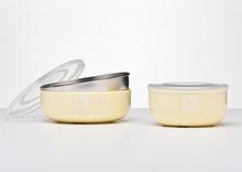 Kangovou Stainless Steel Snack Bowl - Lemon Zest