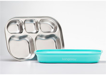 Kangovou Stainless Steel Compartment Plates - Iced Mint