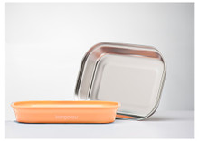 Kangovou Stainless Steel Flat Plate - Peaches and Cream