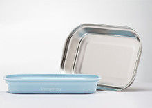 Kangovou Stainless Steel Flat Plate - Frosted Blueberry