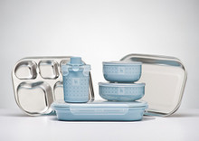 Kangovou 9 Piece Stainless Steel Dishware Set - Frosted Blueberry (OUT OF STOCK)