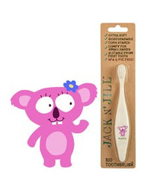 Jack and Jill Biodegradable Toothbrush - Pink Koala