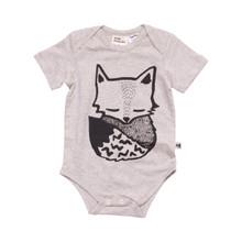 Milk & Masuki Short Sleeve Bodysuit - Fox (LAST ONE LEFT - SIZE NEW BORN)