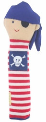 Alimrose Pirate Hand Squeaker - Red Stripe