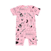 Milk & Masuki Short Sleeve Button All - Believe (LAST ONE LEFT - SIZE NEWBORN)