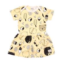 Milk & Masuki Bodysuit Dress - Bear's Picnic (LAST ONE LEFT - SIZE 0-3M)
