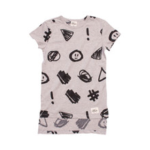 Milk & Masuki Box Tee Dress - Hashtag (LAST ONE LEFT - SIZE 5 YEARS)