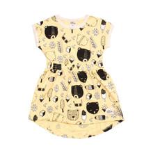 Milk & Masuki Elastic Waist Dress - Bear's Picnic (LAST ONE LEFT - SIZE 5 YEARS)