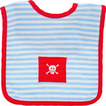Alimrose Bib - Pirate (Blue Stripe Red Trim)