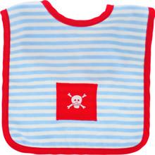 Alimrose Bib - Pirate (Blue Stripe Red Trim)