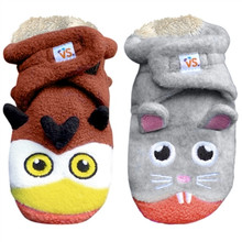 Vs. Stuff Booties - Owl vs Mouse