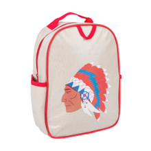 Apple & Mint Little Kid Backpack - Red Indian