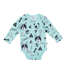 Milk & Masuki Long Sleeve Bodysuit - Woof