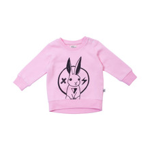 Milk & Masuki Baby Jumper - Rabbit Rockstar (LAST ONE LEFT - SIZE 3-6 MONTHS)