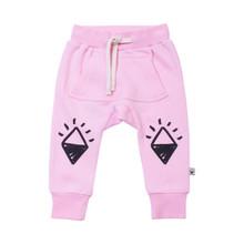 Milk & Masuki Baby Trackies - Pink Joey Pocket (LAST ONE LEFT - SIZE 0-3M)
