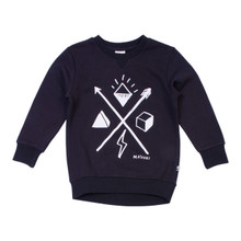 Milk & Masuki Crew Neck Jumper - Symbols (LAST ONE LEFT - SIZE 7 YEARS)
