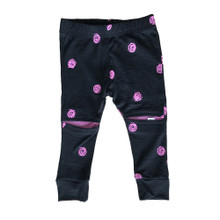 Little Flock of Horrors - Slasher Leggings - Scribble [FROM $44] (LAST ONE LEFT - SIZE 0-3M)