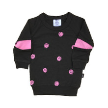 Little Flock of Horrors - Slasher Top - Scribble/Pink (LAST ONE LEFT - SIZE 0-3M)