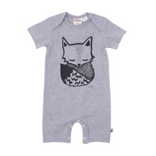 Milk & Masuki Short Sleeve Button All - Sleepy Fox