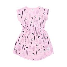 Milk & Masuki Elastic Waist Dress - Feathers