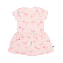 Neon Kite Baby Dress - Flamingo